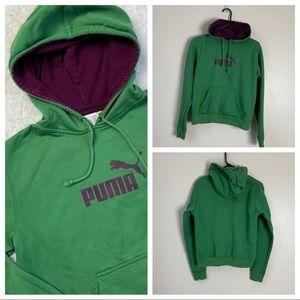 Puma Green and Purple Hoodie Medium